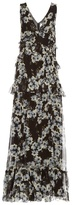 Erdem Mable Rose Hip Night-print silk-voile gown