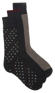 Cole Haan Dot Mens Dress Socks - 3 Pack