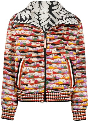 Missoni Reversible Abstract Bomber Jacket