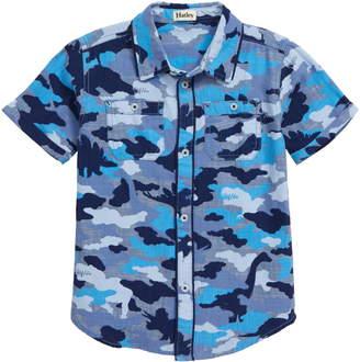 Hatley Dino Camo Woven Short Sleeve Shirt