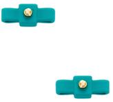 Rubberized Bow Tie Stud Earrings
