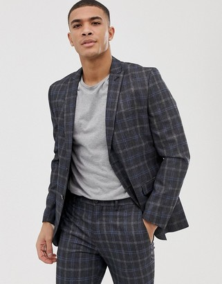 Jack and Jones Suit Jacket In Slim Fit Check