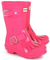 Hunter Pink Fringed Wellington Boots
