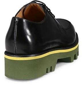 Dries Van Noten Lug Sole Patent Leather Derbies