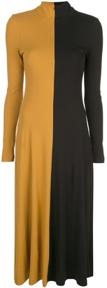 Rosetta Getty Two-Tone Jumper Dress