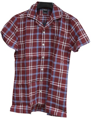 Non Signã© / Unsigned Red Linen Shirts