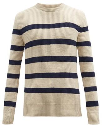 Oliver Spencer Blenheim Striped Organic-cotton Sweater - Beige Multi