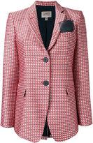 Armani Collezioni checked blazer - women - Silk/Cotton/Polyester/Viscose - 40