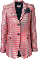 Armani Collezioni checked blazer - women - Silk/Cotton/Polyester/Viscose - 44