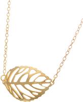 Bliss Gold Cutout Leaf Pendant Necklace