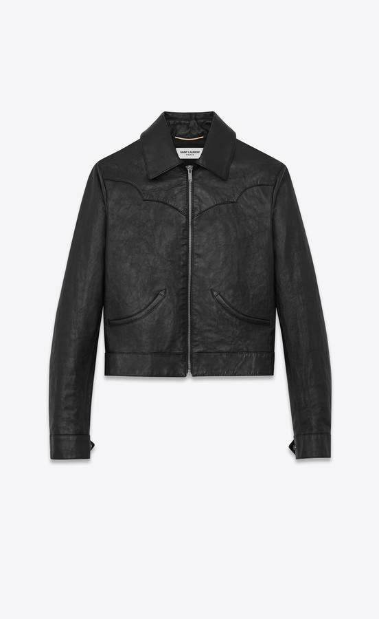 Saint Laurent Western-Style Jacket In Vintage Leather