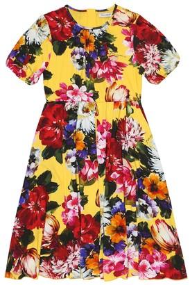 Dolce & Gabbana Kids Floral jersey dress
