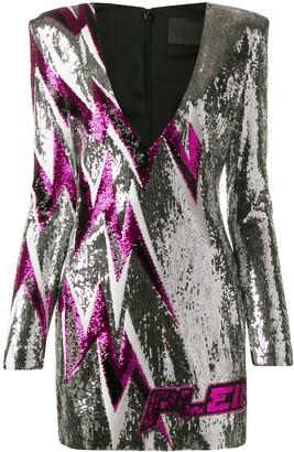 Philipp Plein Thunder sequin dress