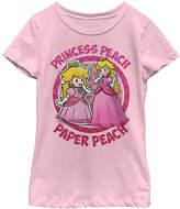 Fifth Sun Paper Mario 'Princess Peach & Paper Peach' Tee - Girls