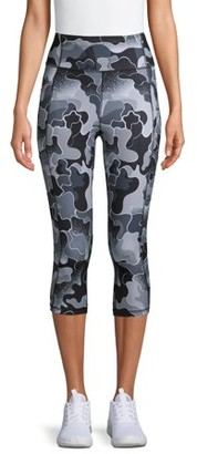 Avia Women's Active Side Pocket Printed Capri Leggings