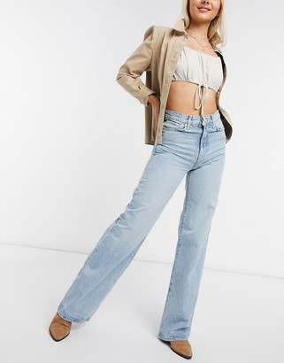 We the Free by Free People Astoria wide leg jeans in blue