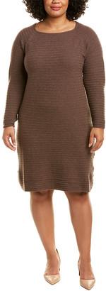 Lafayette 148 New York Plus Ribbed Wool Dress