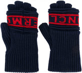 Moncler logo gloves