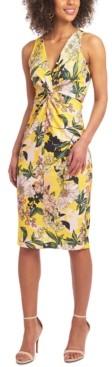Christian Siriano New York Floral-Print Sheath Dress