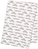 Trend Lab Mustaches Deluxe Flannel Swaddle Blanket by