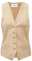 Pallas X Claire Thomson Jonville X Claire Thomson-jonville - Gambler V-neck Wool Waistcoat - Womens - Beige