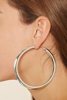 Forever 21 Flat Oversized Hoop Earrings