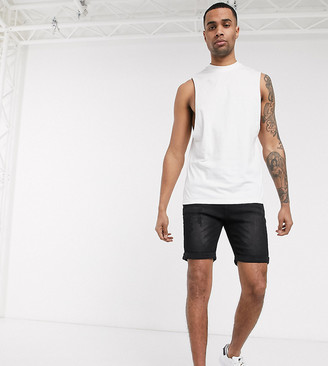 ASOS DESIGN Tall organic relaxed sleeveless t-shirt with dropped armhole in white
