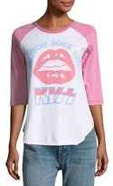 Junk Food Clothing KISS Graphic Raglan Tee