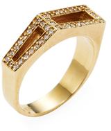 Maiyet 18K Yellow Gold & 0.22 Total Ct. Diamond Geometric Ring