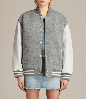 AllSaints Base Wool Bomber Jacket