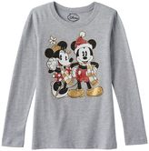 Disney Disney's Minnie & Mickey Mouse Girls 7-16 Holiday Foil Graphic Tee