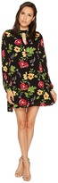 Romeo & Juliet Couture Floral Print Dress with Keyhole