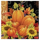 16ct Pumpkin Tapestry Napkins