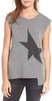 Pam & Gela Women's Star Asymmetrical Muscle Tee
