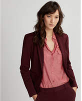 Express notch collar one button jacket