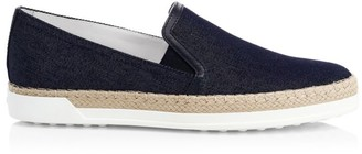 Tod's Slip-On Denim Espadrille Sneakers