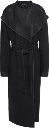 Nina Ricci Wool And Linen-blend Gabardine Trench Coat