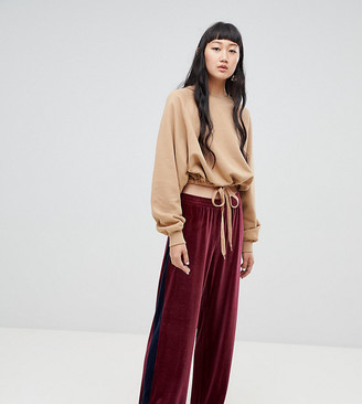 Weekday co-ord colour block velvet joggers