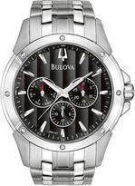 Bulova Mens Silver Tone Bracelet Watch-96c107
