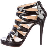 Christian Louboutin Patent Leather Cage Sandals