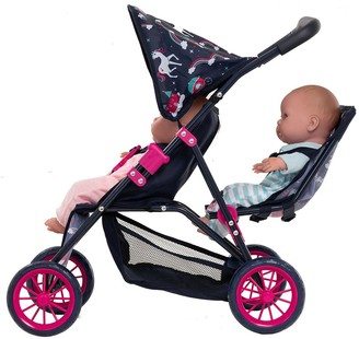 Unicorn Twin Stroller & Bag