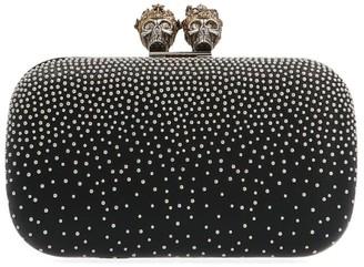 Alexander McQueen Skull Stud Embellished Clutch Bag
