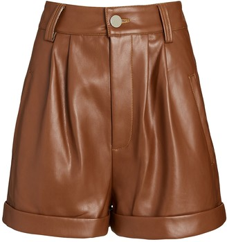 Divine Heritage High-Rise Vegan Leather Shorts