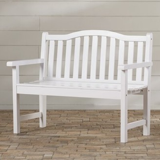 Andover Mills Embry Wooden Garden Bench Color: White