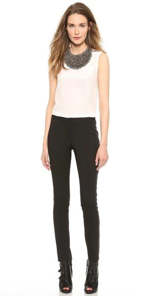 Vera Wang Collection Tuxedo Stripe Skinny Pants