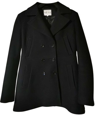 Reiss Black Wool Coat for Women