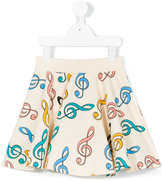 Mini Rodini Clef skirt - kids - Organic Cotton/Spandex/Elastane - 7 yrs