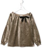 Douuod Kids - velvet blouse - kids - Cotton/Spandex/Elastane/Viscose - 2 yrs