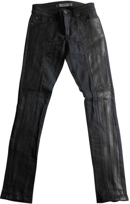 Superfine Black Leather Trousers