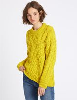 Marks and Spencer Cable Knit Round Neck Jumper